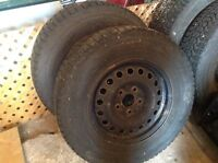 225 R 16 Firestone mud and snow tires and rims