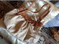Milan fashion ladies handbag beige colour £4