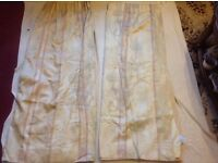 2 Pairs double curtains window beige used £4