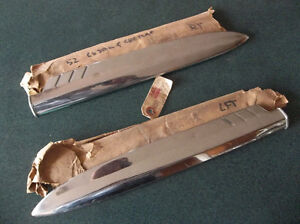 1952 Ford and Meteor stainless front fender trim spears London Ontario image 1