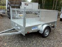 Trailer Dale Kane 7x4 fully welded single axle trailer type approved