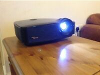 Optoma 3D Projector with 2x 3D glasses and screen
