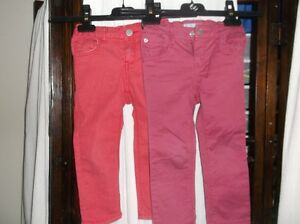 2 Excel. Pairs 3T Gap Girls Coloured Skinny Jeans Pants Reg$45