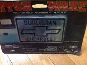 New hitch ware polished billet aluminum hitch cover suburban che