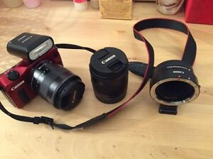 Canon EOS M1 with 2 lenses and mount