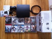 ps3, accesories and 10 games