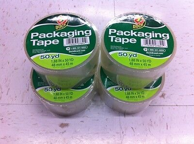 4 ROLLS CLEAR Duck Packaging Packing Carton Shipping Tape 1.88