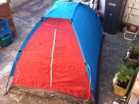 Two person tent. Only used a few times - can deliver locally