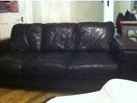 Leather Three Seater Sofa