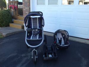Graco  Click Connect stroller, car seat, base hardly used.