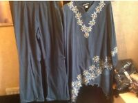 Brand new from Dubai suits 2 pieces dress & trousers size: L £25
