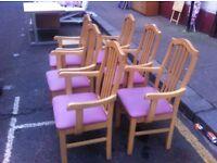 Six farmhousey carver chairs