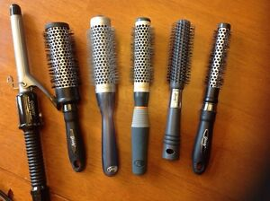 Hair Styling Brushes and a Curling Iron