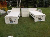 Antique and unique solid hardwood bedroom set