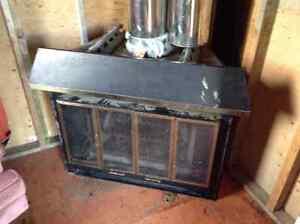 Corner wood burning Fireplace with partial Chimney St. John's Newfoundland image 3