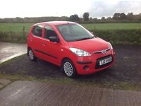 2010 Hyundai i10 Classic red 5 door motd January 17
