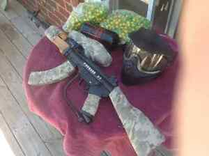 Tippmann A5 AK47 paint ball gun used on two occasions Kawartha Lakes Peterborough Area image 2