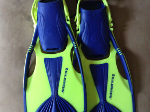 U.S. Divers Adjustable Youth Flippers Size 1 - Size 4