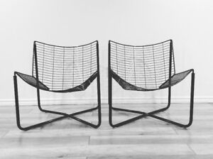 1983 Jarpen Wire Chairs by Niels Gammelgaard-Chaises Retro 1983