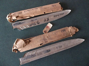 1952 Ford and Meteor stainless front fender trim spears London Ontario image 2