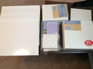 Blank canvases, assorted sizes