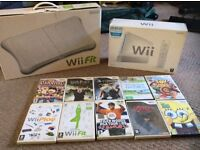 Wii Console, Wii Fit plus 9 games