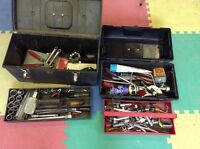 2 tool boxes & tools