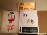 1974 brand new fisher body service manual