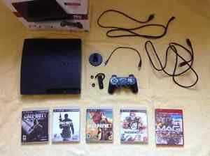 PlayStation 3 with Headset and Games - Like New London Ontario image 1
