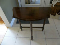 Antique small solid wood table