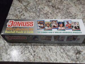 1991 DONRUSS BASEBALL CARDS-FULL SET