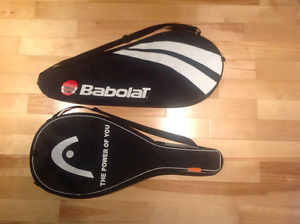 Babolat and Head tennis racquet covers