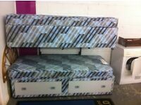 Two Single Divan Beds : Free Glasgow Delivery