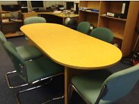 Meeting table and chairs £25