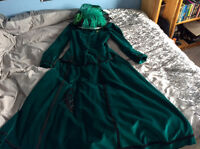 Beautiful Emerald Green Rendezvous Walking Suit and Hat