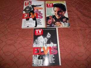 ELVIS PRESLEY TV GUIDE MAGAZINE COVERS
