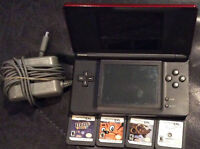 Nintendo DS With charger!! Guitar Hero/Games