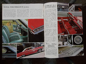 1964 Ford Galaxie 500 & XL dealer showroom catalog London Ontario image 8