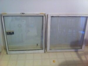 double pane windows (wooden frame)