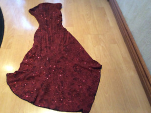 FANCY SPARKLY RED DRESS FOR WOMEN