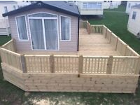 FLS decking timber or upvc decking for your static caravan or lodge Cornwall , devon