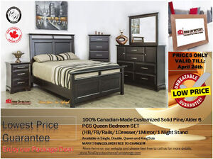 ◆Brand New Canadian-Made Customized Solid Bedroom@NEW DIRECTION