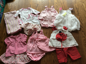 Baby girl summer clothes - size 0-3 months up to 9 months