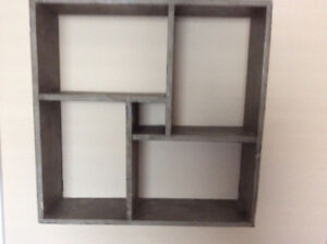 Intersecting Square Decorative Wall Shelves