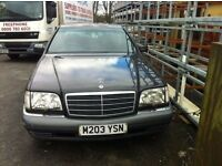 W140 S Class S320 8 months mot solid runner bodywork needs TLC