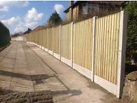 🌳Pressure Treated Heavy Duty Wooden/Timber Bow Top Close Board Fence Panels🌳