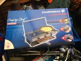 Camping chef camping cooker with grill brand new in original packaging