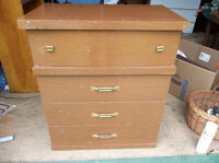 Dresser with four drawers perfect for student