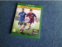 XBOX One FIFA 15 Ultimate Team Edition, used but clean