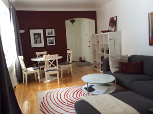 3 1/2 Furnished Apartment to sublet, All Included, January–June